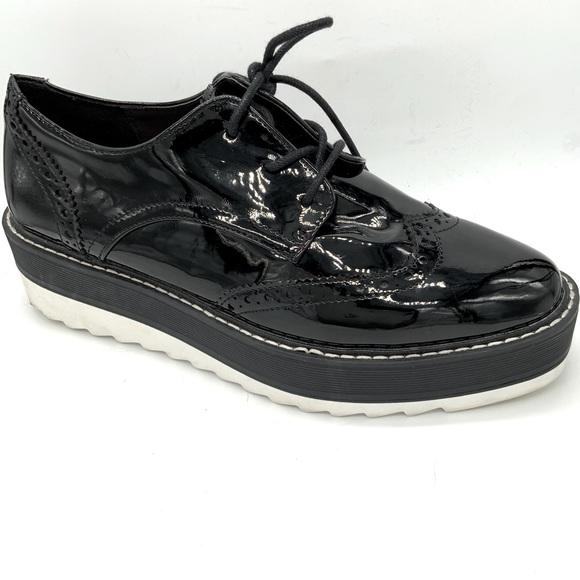 Zara woman Patent oxford platform shoes 38